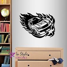 Wall Vinyl Decal Street Racing Car Fast Speed Extreme Boys Teen Room Sticker 143
