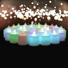 Colorful Tea Light LED Candles Realistic Battery Powered Flameless Fake Candles