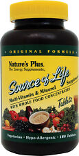 SOURCE OF LIFE NEW 60 COMPRIMIDOS NATURE'S PLUS