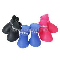 Pet Dog Puppy Waterproof Protective Skidproof Rain Shoes Warm Boots Size S/M/L