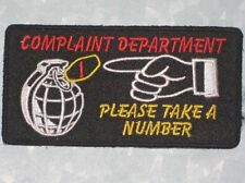 Complaint Department Please Take A Number Patch - Biker Patch