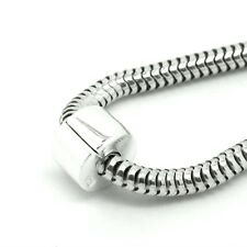 TAPPO Clip / Blocca-Plain-Hinged-solido 925 argento Sterling Charm europeo Perline
