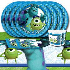 Disney Pixar Monsters University Children's Birthday Party Tableware Pack For 8