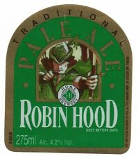 Home Brewery Co Robin Hood Pale Ale Beer Bottle Label