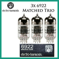 New 3x Electro Harmonix 6922 / ECC88 / 6DJ8 | Matched Trio / Set / Three | EH