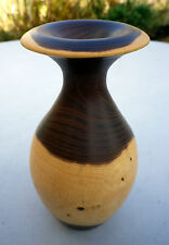 Beautiful Turned Wooden Vase Laburnum Wood