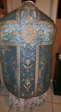 Blue MARIAN EMBROIDERED CHASUBLE,