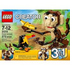 LEGO CREATOR 31019 FOREST ANIMALS SET BRAND NEW SEALED BOX 3 IN 1