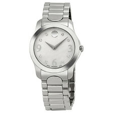 Movado Diamond Mother of Pearl Dial Stainless Steel Ladies Watch 0606696