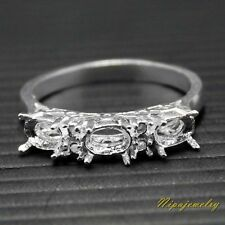 Ring Setting Sterling Silver 6x4 mm.Oval. size 8.25