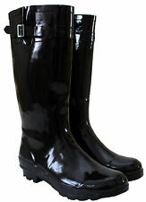 WOMENS LADIES 42 CM WIDE CALF FESTIVAL WELLIES WATERPROOF RAIN WELLINGTON BOOTS