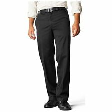 Dockers Men's Size 38 x 29 Black Signature Khaki Straight Fit D2 Flat Front Pant