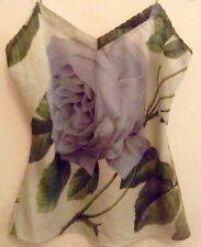 Ted Baker Blue Pale Green Distinguishing Rose Dragonfly Camisole Vest Top