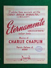 (AB105) SPARTITO MUSICALE 24x31 cm (1953) ETERNAMENTE Charlie Chaplin