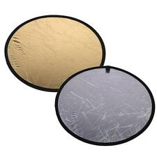 "23.6""/60cm 2 in1 Handhold Multi Collapsible Disc Light Reflector for Photography"