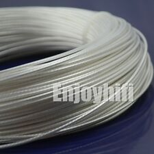 10m 0.20mm2 0.23 x7strands Teflon OCC Copper silver wire for audio AWG22 AWG24