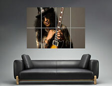 Slash Guitarist Legend guns n roses Wall Art Poster Grand format A0 Large Print
