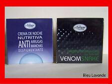 CREME DE NUIT NUTRITIVE ET ANTI-TACHEs + CREME ANTI-RIDES  AU VENIN DE SERPENT