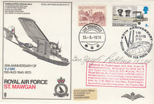 25th Anniv V J Day.RAF St Mawgan signed  Lt General J T Robbins USA Ace 22