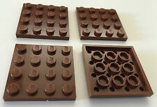 *NEW* 4 Pieces Lego PLATES 4x4 REDDISH BROWN 3031