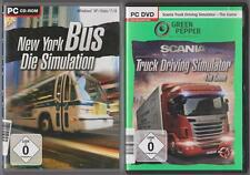 SCANIA Truck Driving Simulator + New York Bus Die Simulation Sammlung PC