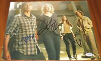 Fear the Walking Dead Cast Signed 11x14 By 4 Curtis Dickens Dillane PSA LOA