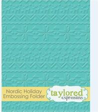 Taylored Expressions ~ A2 Embossing Folder ~ NORDIC HOLIDAY  Christmas ~ TEEF37