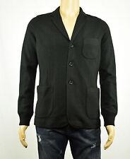 VINCE Mens Black Boiled Wool Knit Slim-Fit Blazer Jacket S