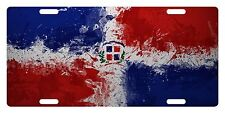 Rep Dominicana Flag Custom License Plate Dominican Emblem Paint Version # 5