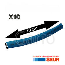 10X Tubo 10 cm Retractil Azul Cable 5 mm diametro aislador termoretractil