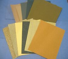 LOT OF 12 PC 1/4 SHEET ASST PALM SANDPAPER 80 -1200 GRIT 100 180 220 320 400 500