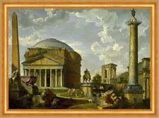 The panthéon and other monuments of Ancient rome pannini Italie B a3 02114