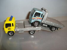 Matchbox-FLATBED TRUCK 2000 ..&..DELIVERY TRUCK TOW SERVICE..lot of 2