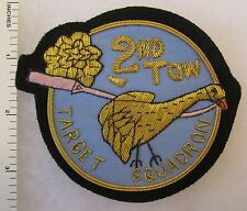 2nd TOW TARGET SQUADRON AIR FORCE POCKET PATCH Bullion Custom Made for VETERANS