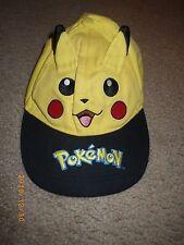 VTG Pikachu Pokemon Baseball Hat Cap Game Freak Yellow Ears Snapback Ball #25