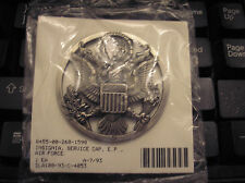 U.S. AIR FORCE ENLISTED CAP BADGE - SILVER OXIDE FINISH