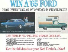 1965 Ford Car & Truck Prize Giveaway Brochure 125285-JF3165