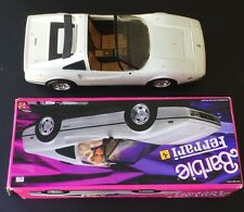 Vintage Barbie White Ferrari Convertible Car Box 1988 RARE KEN TOY MATTEL 3564
