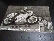 57377 Tennstädt Motorsport original signierte Autogrammkarte aus DDR Zeiten