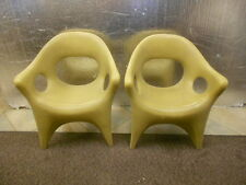 One lot of 2 RARE RETRO JOHN GALE CHAIRS USED! HERMAN MILLER EAMES ERA FreeShip