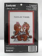 Janlynn Suzy's Zoo Forever Friends Counted Cross Stitch Kit - Red Frame #38-89