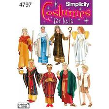 SIMPLICITY SEWING PATTERN Misses' Boys' and Girls' Nativity Costumes  4797