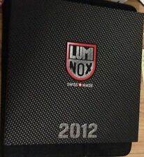 2 Luminox watches 2012 2010 collection watch catalog book NEW