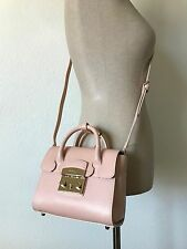 Furla Magnolia Pink Ares Printed Leather Small Metropolis Satchel 820769 Italy