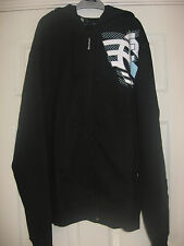NEW MEN'S FENCHURCH BLACK ZIPPED HOODED SWEATSHIRT HOODIE 38-40 SIZE MEDIUM BNWT