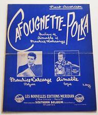 Partition sheet music MAURICE LARCANGE : Cafougnette Polka * 50's Accordéon