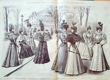 LA MODE ILLUSTREE-1897-12-avec PATRONS-VOIR MODELES DETAILLES