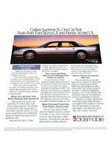 1990 Oldsmobile Cutlass Supreme -  Vintage Advertisement Car Print Ad J423