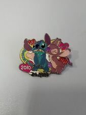 HTF! HKDL 2010 Passholder Exclusive Angel Kiss Stitch pin ( Disney LOVE Scrump)