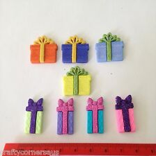 Christmas Birthday Brightly Wrapped Presents Novelty Flatbacks from Dress It Up